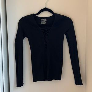 Free People Form Fitting Black Top